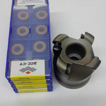 Inserto Fresamento Geral com Suporte Diâmetro 50mm Incluso – 40 Unidades –  RDKW1204MO YB9320